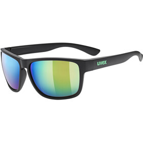 UVEX LGL 36 CV Brille, black mat/mirror green